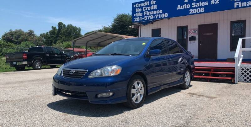 2008 Toyota Corolla for sale at P & A AUTO SALES in Houston TX