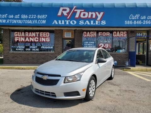 2011 Chevrolet Cruze for sale at R Tony Auto Sales in Clinton Township MI