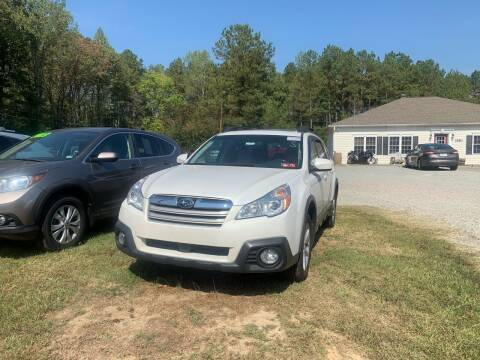 2013 Subaru Outback for sale at Premier Auto Solutions & Sales in Quinton VA