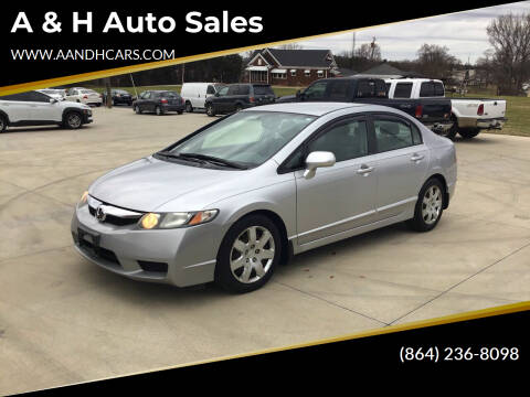 2009 Honda Civic for sale at A & H Auto Sales in Greenville SC
