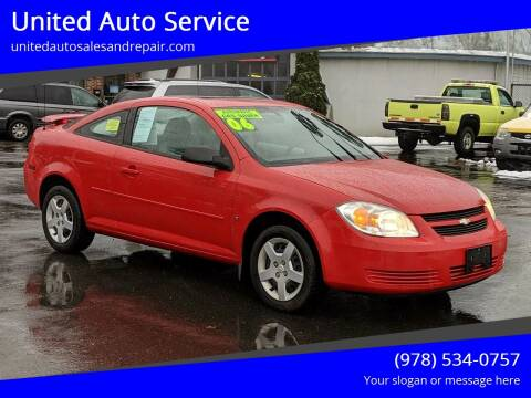 2006 Chevrolet Cobalt for sale at United Auto Service in Leominster MA