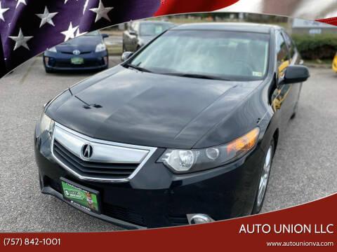 2012 Acura TSX for sale at Auto Union LLC in Virginia Beach VA