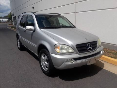 2003 Mercedes-Benz M-Class for sale at M & M Auto Brokers in Chantilly VA