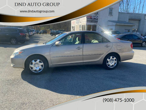 2003 Toyota Camry for sale at DND AUTO GROUP in Belvidere NJ