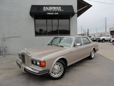 1982 Rolls-Royce Silver Spirit for sale at FAIRWAY AUTO SALES, INC. in Melrose Park IL