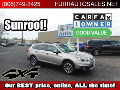 2016 Subaru Outback for sale at FURR AUTO SALES in Lubbock TX