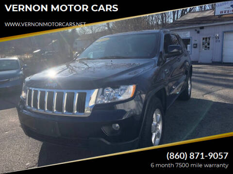 2013 Jeep Grand Cherokee for sale at VERNON MOTOR CARS in Vernon Rockville CT
