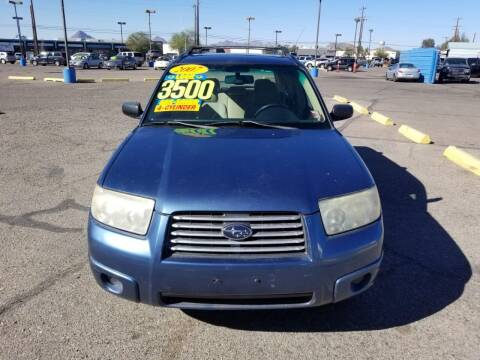 2007 Subaru Forester for sale at CAMEL MOTORS in Tucson AZ