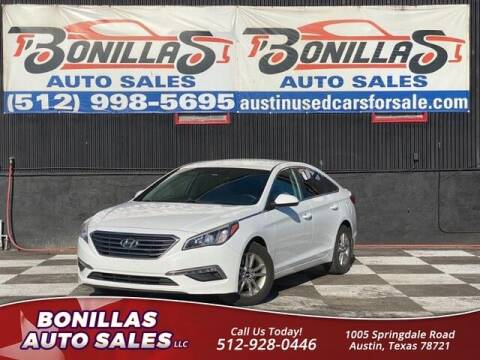 2015 Hyundai Sonata for sale at Bonillas Auto Sales in Austin TX
