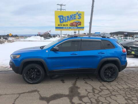 2019 Jeep Cherokee for sale at Blakes Auto Sales in Rice Lake WI