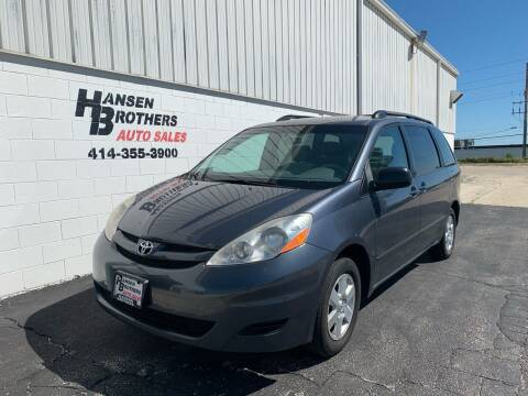 2008 Toyota Sienna for sale at HANSEN BROTHERS AUTO SALES in Milwaukee WI