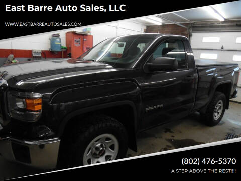 2014 GMC Sierra 1500 for sale at East Barre Auto Sales, LLC in East Barre VT