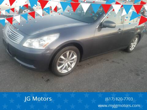 2007 Infiniti G35 for sale at JG Motors in Worcester MA