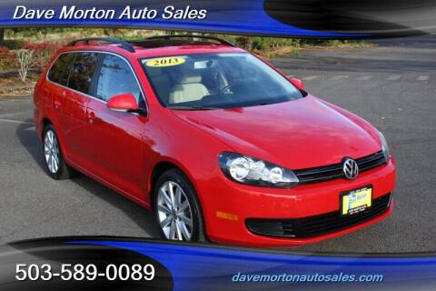 2013 Volkswagen Jetta for sale at Dave Morton Auto Sales in Salem OR