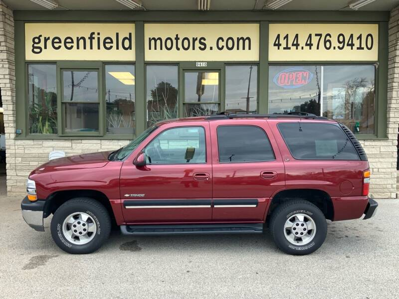 2001 Chevrolet Tahoe for sale at GREENFIELD MOTORS in Milwaukee WI