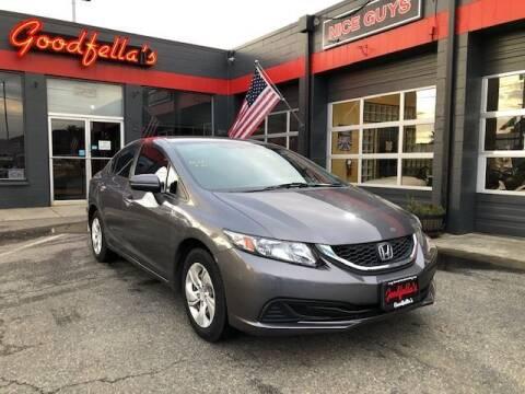 2014 Honda Civic for sale at Goodfella's  Motor Company in Tacoma WA