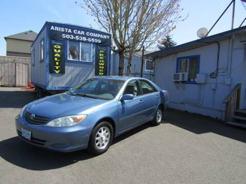 2004 Toyota Camry for sale at ARISTA CAR COMPANY LLC in Portland OR