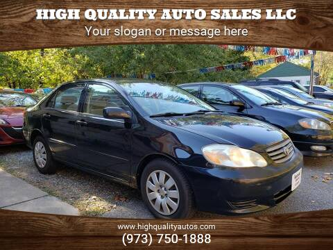 2004 Toyota Corolla for sale at High Quality Auto Sales LLC in Bloomingdale NJ