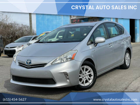 2013 Toyota Prius v for sale at Crystal Auto Sales Inc in Nashville TN
