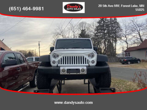 2016 Jeep Wrangler Unlimited for sale at Dandy's Auto Sales in Forest Lake MN