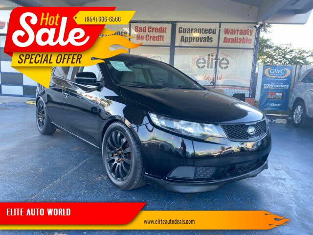 2011 Kia Forte for sale at ELITE AUTO WORLD in Fort Lauderdale FL