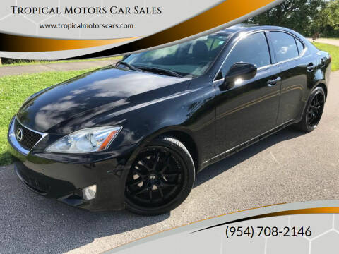 2008 Lexus IS 250 for sale at Tropical Motors Car Sales in Deerfield Beach FL