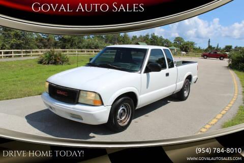 2002 GMC Sonoma for sale at Goval Auto Sales in Pompano Beach FL