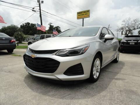 2019 Chevrolet Cruze for sale at GREAT VALUE MOTORS in Jacksonville FL