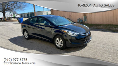 2014 Hyundai Elantra for sale at Horizon Auto Sales in Raleigh NC