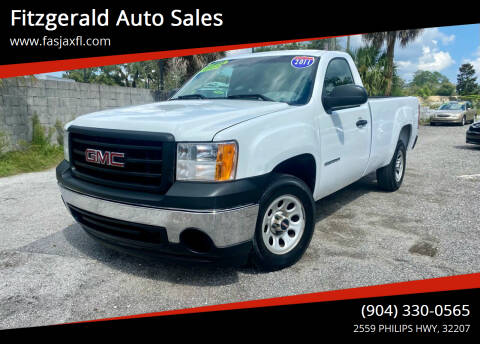 2011 GMC Sierra 1500 for sale at Fitzgerald Auto Sales in Jacksonville FL