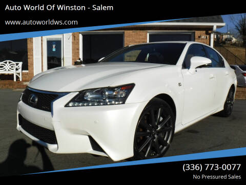 2013 Lexus GS 350 for sale at Auto World Of Winston - Salem in Winston Salem NC