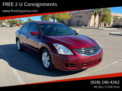 2010 Nissan Altima for sale at FREE 2 U Consignments in Yuma AZ