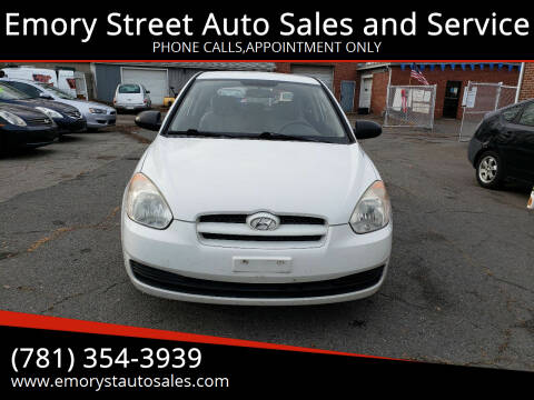 2009 Hyundai Accent for sale at Emory Street Auto Sales and Service in Attleboro MA