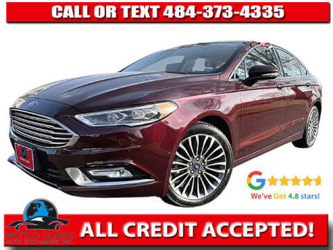 2017 Ford Fusion for sale at World Class Auto Exchange in Lansdowne PA