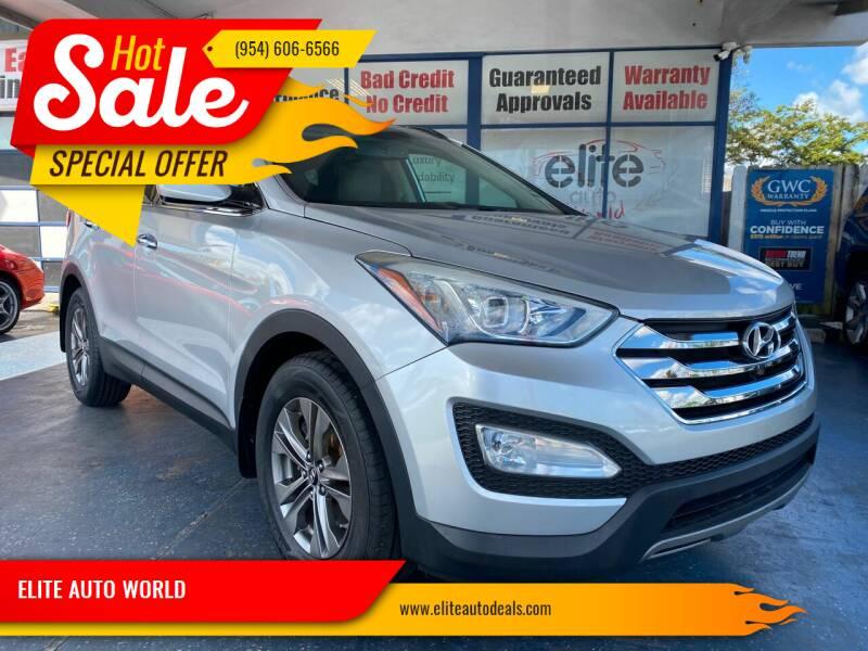 2014 Hyundai Santa Fe Sport for sale at ELITE AUTO WORLD in Fort Lauderdale FL