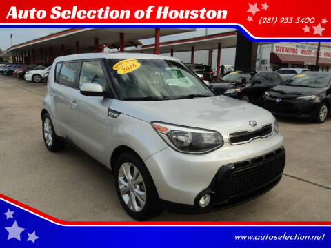 2016 Kia Soul for sale at Auto Selection of Houston in Houston TX