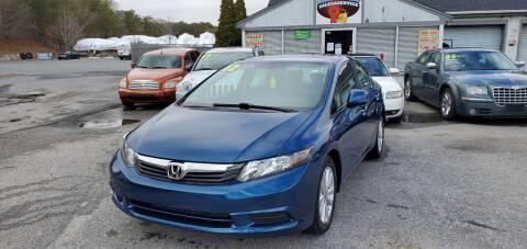 2012 Honda Civic for sale at Falmouth Auto Center in East Falmouth MA