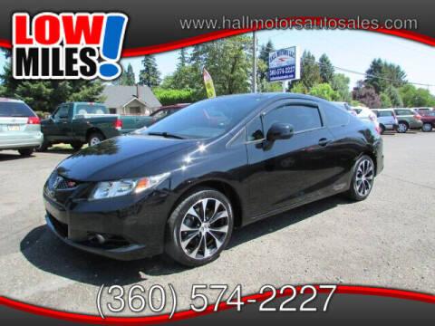 2013 Honda Civic for sale at Hall Motors LLC in Vancouver WA
