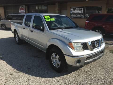 2007 Nissan Frontier for sale at G LONG'S AUTO EXCHANGE in Brazil IN
