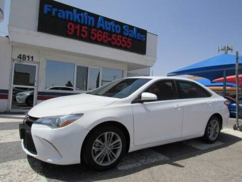 2015 Toyota Camry for sale at Franklin Auto Sales in El Paso TX