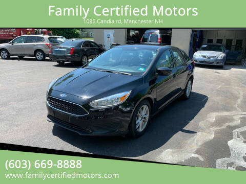 2018 Ford Focus for sale at Family Certified Motors in Manchester NH
