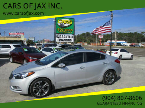 2016 Kia Forte for sale at CARS OF JAX INC. in Jacksonville FL