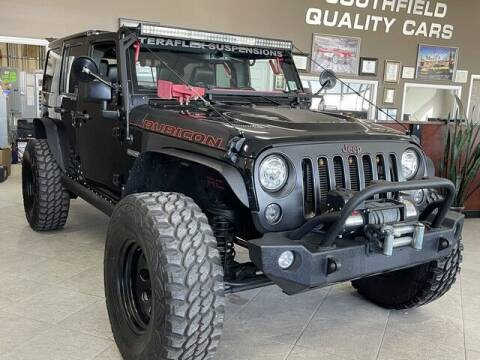 2017 Jeep Wrangler Unlimited for sale at SOUTHFIELD QUALITY CARS in Detroit MI
