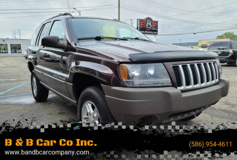 2004 Jeep Grand Cherokee for sale at B & B Car Co Inc. in Clinton Township MI