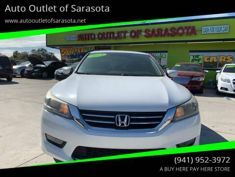 2014 Honda Accord for sale at Auto Outlet of Sarasota in Sarasota FL