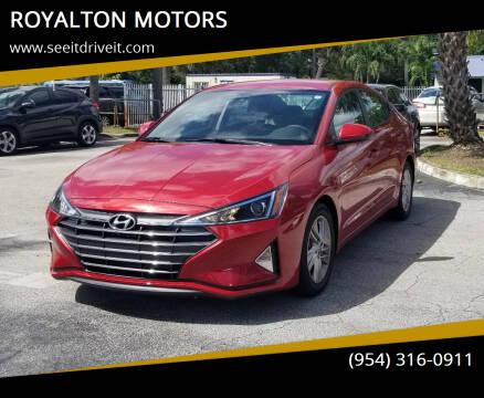 2020 Hyundai Elantra for sale at ROYALTON MOTORS in Plantation FL