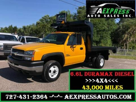 2004 Chevrolet Silverado 3500 for sale at A EXPRESS AUTO SALES INC in Tarpon Springs FL
