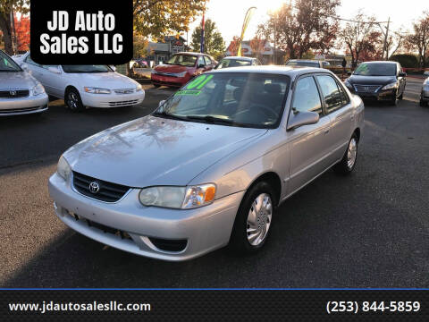 2001 Toyota Corolla for sale at JD Auto Sales LLC in Fife WA