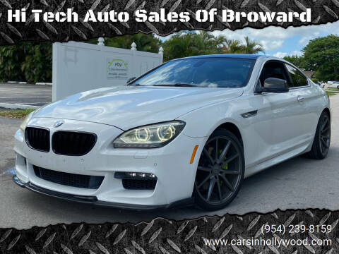 2012 BMW 6 Series for sale at Hi Tech Auto Sales Of Broward in Hollywood FL