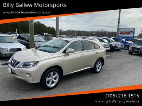 2014 Lexus RX 350 for sale at Billy Ballew Motorsports in Dawsonville GA